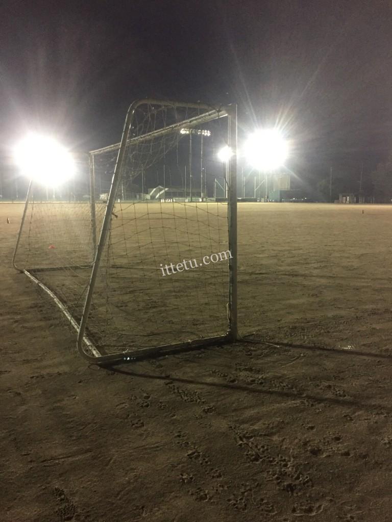 ジュニアサッカーナイター練習
